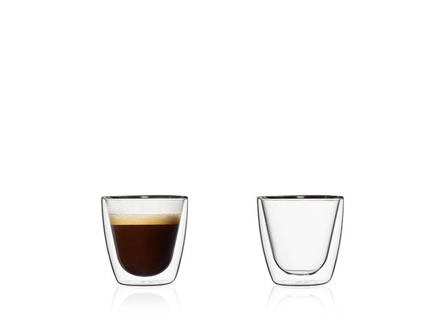Doppelwandige Gläser, 80 ml