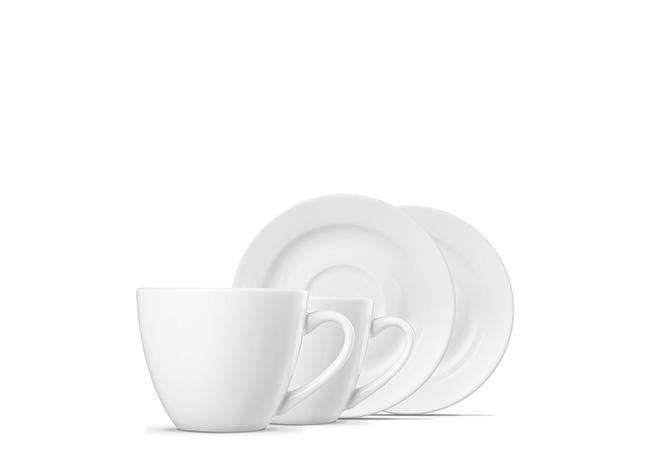 Tazas de café 210 ml + platos